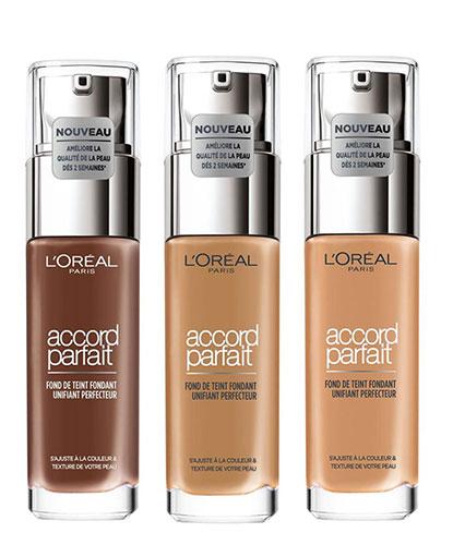 3 flacons de fond de teint L'Oréal accord parfaite